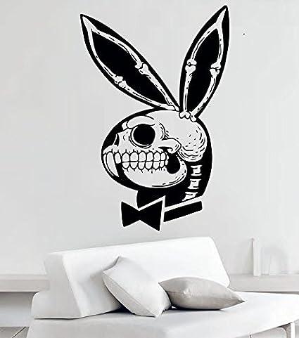 Amazon Funny Playboy Bunny Skull Vinyl Wall Decals Stickers