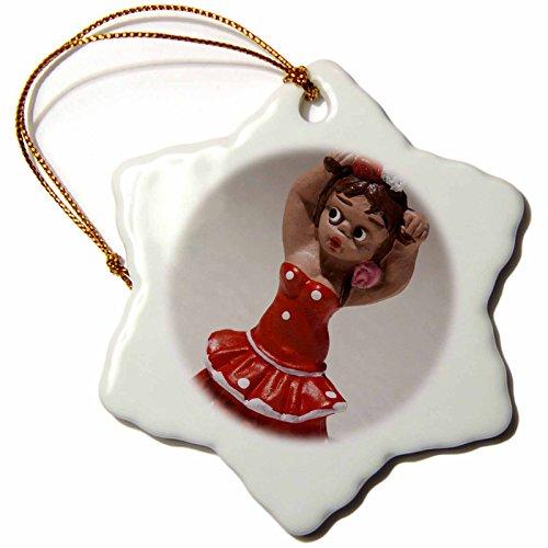 3dRose orn_139191_1 Spain, Madrid, Souvenir of Spanish Dancers-Eu27 Wbi0229-Walter Bibikow-Snowflake Ornament, 3-Inch, Porcelain by 3dRose