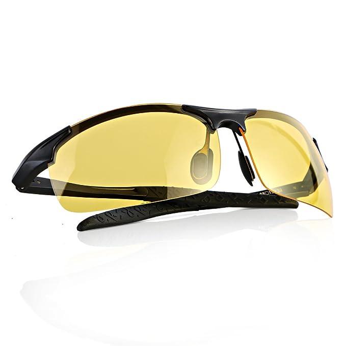 Maigel Gafas de visión nocturna conducción de Gafas de sol Polarizadas de la Visión Nocturna para los Antideslumbrante de conducción de los vidrios ...
