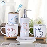 Brandream Cute Cartoon Giraffe Owl Bathroom Accessories Set Kids Bathroom  Sets Ceramic