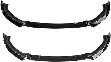 Negro brillante Parachoques Delantero Del Coche Labio ABS Pl/ástico Canard Labio Impermeabilizante Anti-corrosi/ón para A3 S-Line 8V 2017-2018