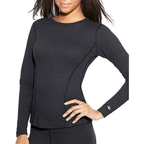 Duofold by Champion Varitherm Women's Thermal Long-Sleeve Shirt_Black_M