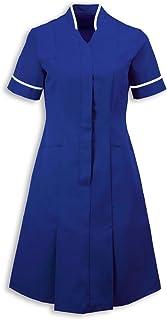 Alexandra al-nf51ro-84r Mandarin Collar Dress, tinta unita, regular, filetto bianco/Trim, petto 84cm (misura 8), Royal