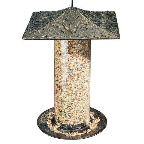 Whitehall Products 30417 12 in. Oakleaf Bird Tube Feeder - French Bronze - Bronze Oak Bird Feeder