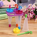 Ice Cream Pop Mold Frozen Umbrella 4pcs Durable And Easy To Use, Hand-wash Will Be Better Great Freezer Molds Create Your Perfect Spring Summer