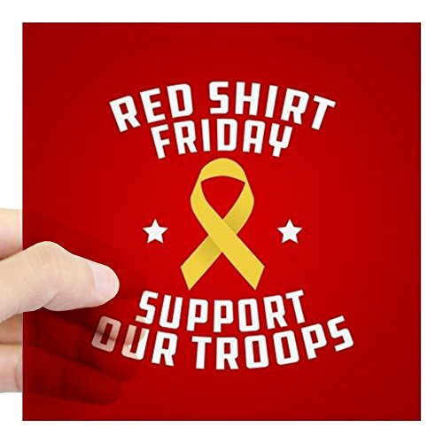 CafePress Army Red Shirt Friday Square Sticker 3