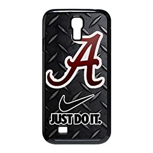 Luckeverything Customize NCAA Alabama Crimson Tide logo black plastic Case Fits and Protect SamSung Galaxy S4 I9500