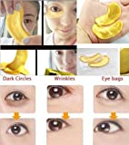Anti Aging Eye Treatment 10/20/30/50/60/80/100 pairs wholesale New Crystal 24K Gold Powder Gel Collagen Eye Mask Masks Sheet Patch, Anti Ageing Aging, Remove Bags, Dark Circles & Puffiness, Skincare, Anti Wrinkle, Moisturising, Moisture, Hydrating, Uplifting, Whitening, Remove Blemishes & Blackheads Product. Firmer, Smoother, Tone, Regeneration Of Skin. Suitable For Home Use Hot or Cold. (20 pairs) by Hitece