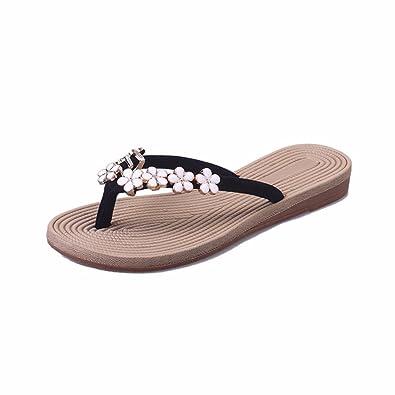 YUCH Kleidung Damen Sandalen Sommer Flache Rutschfeste Sandalen,Ich,38