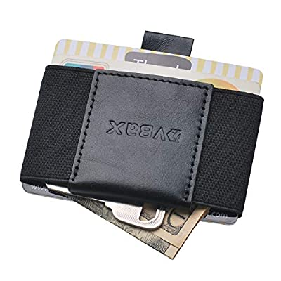 Ebax Minimalist Slim Wallet For Men Women - Elastic Front Pocket Credit Card Holder Wallet