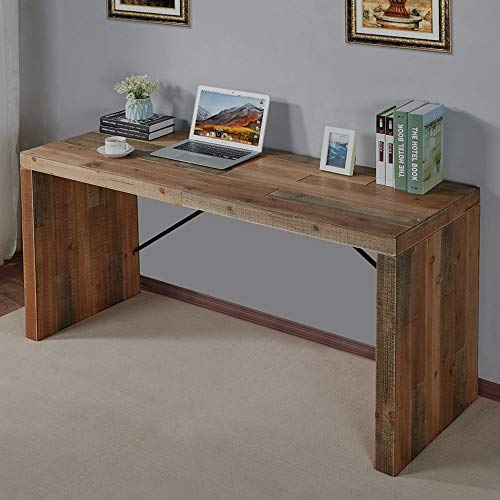 FurniChoi Computer Desk, Large Wood Writing Desk, Simple Home Office Desk, Vintage Study Table for PC Laptop Notebook, Industrial Style
