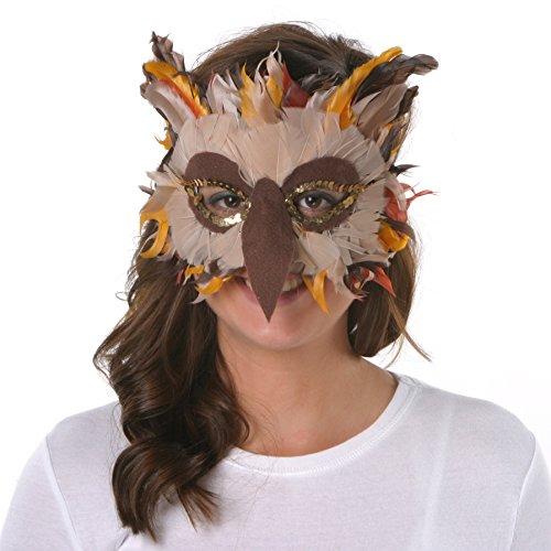 ZUCKER™ Feather Owl Mask - BE - GO - -