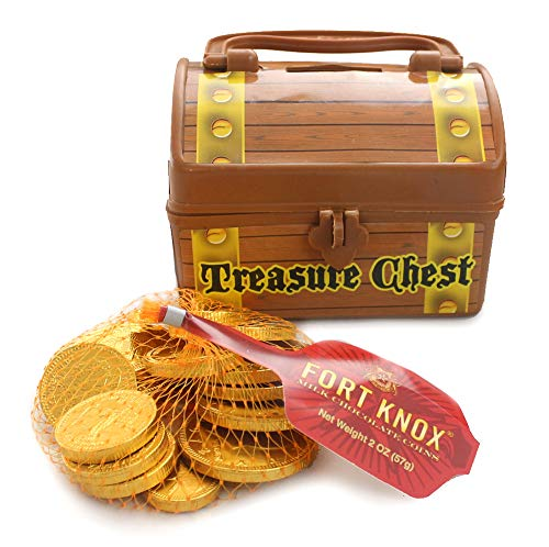 Pirate Treasure Chest Filled With Fort Knox Gold