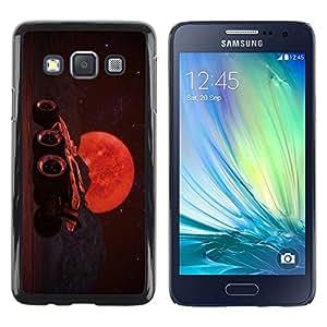 Be Good Phone Accessory // Dura Cáscara cubierta Protectora Caso Carcasa Funda de Protección para Samsung Galaxy A3 SM-A300 // Moon Rider Future Sky Planet