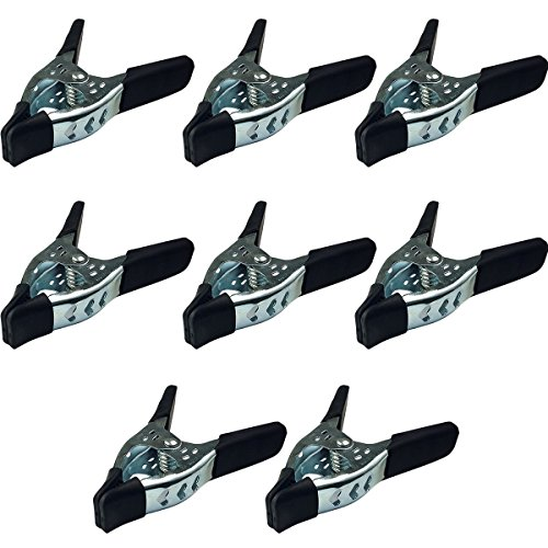 Lot of 8-6'' inch Spring Clamp Large Super Heavy Duty Spring Metal Black - 3 inch Jaw opening by Online Best Service