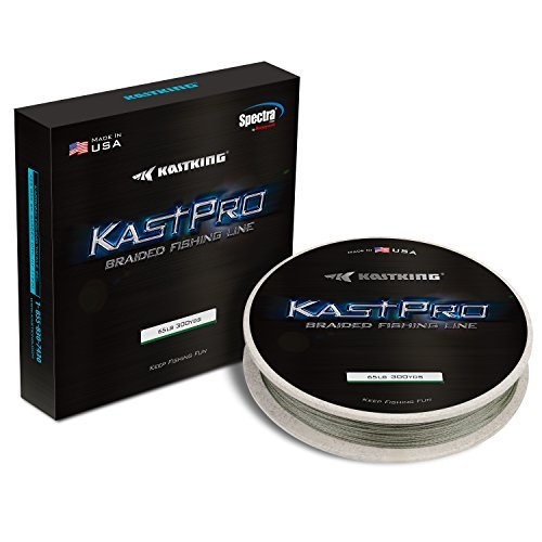 KastKing KastPro Braided Fishing Line,Combat Green,300Yds,30LB