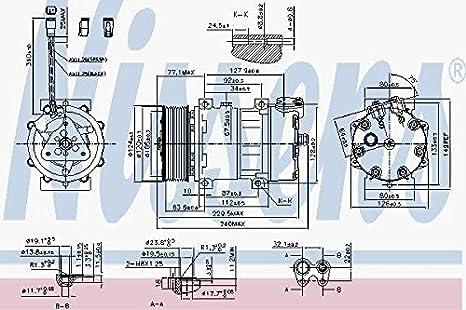 Nissens 890022 Compresor para Aire Acondicionado: Amazon.es: Coche y moto