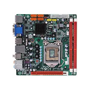 ECS Elitegroup H55H-I - Placa base (Socket H (LGA 1156), Gigabit Ethernet, Realtek RTL8111D(L), mini ITX, Realtek ALC892, No compatible)