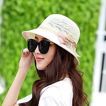 6e1a1adfd02 Hatrita-J Summer Hat Sun Hat Double Color Pearl Fashionable Hat Sun Hat  Basin Cap