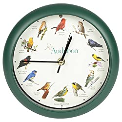 Mark Feldstein & Associates Audubon Singing Bird Clock, 8