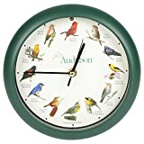 "Mark Feldstein Associates Audubon Singing Bird Clock, 8"""