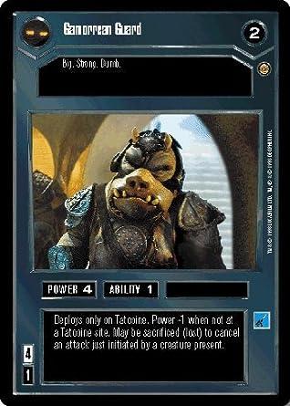 Star Wars CCG Jabbas Palace Card Gamorrean Guard