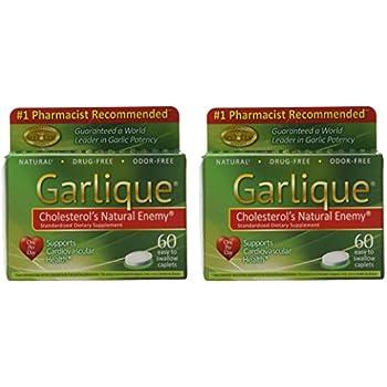 Amazon Com Garlique Dietary Supplement Caplets 60 Count Packages