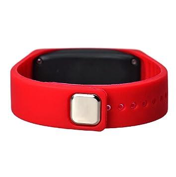 Sannysis® Ultra Thin Reloj Deportivo; LED Silicona Reloj de Pulsera Deportivo (Rojo): Amazon.es: Deportes y aire libre