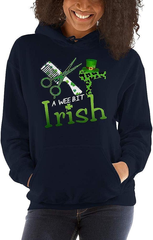 TEEPOMY A Wee Bit Irish Funny Hairstylist St Patricks Day Green Unisex Hoodie