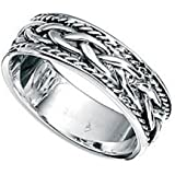 Celtic Ring Thumb Sterling Silver finger ladies mens sizes L- Z