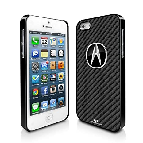 Amazoncom Acura Logo Carbon Fiber Look IPhone Black Cell Phone - Acura phone case