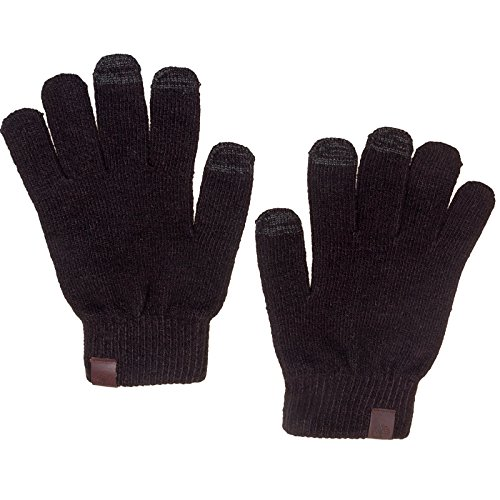 Timberland Mens Commuter Texting Gloves w/ Touchscreen Conductivity (Black)