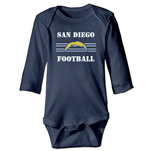 U9 6-24 Months Newborn Babys Boy's & Girl's San Diego Logo Chargers Long Sleeve Jumpsuit Outfits Navy Size 18 Months