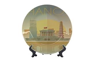 Piatti Città Hanoi Vietnam Ceramica Stampato