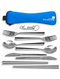 2 Person Stainless Steel Portable Eating Utensils