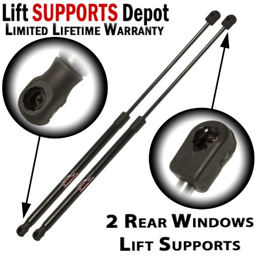 Qty (2) Fits Honda Pilot 2009 To 2013 Rear Window Glass Lift supports, Support, ()