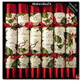 Set of 12 Bows & Berries Christmas Crackers