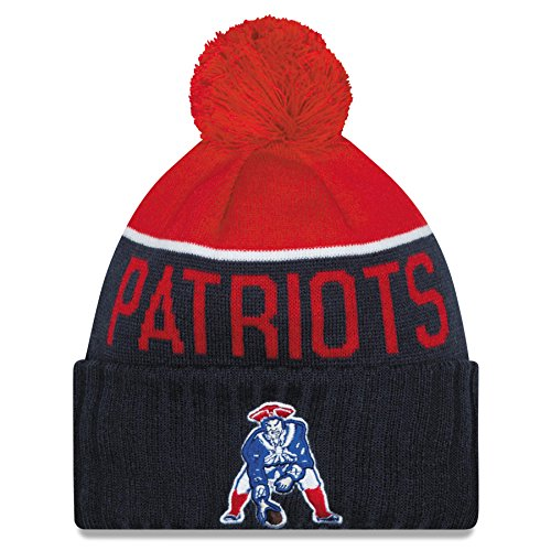 New England Patriots 2015 Sport Knit Classic Alternate Cuffed Pom Knit Cap / Beanie (Sport Cuffed Knit)