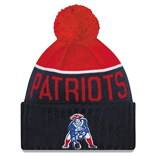 New England Patriots 2015 Sport Knit Classic Alternate Cuffed Pom Knit Cap / Beanie