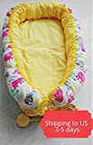 Babynest, baby nest, baby cocoon, baby nest bed, sleeping nest. elephant print baby, baby elephant print, baby shower gift, sleeping bed
