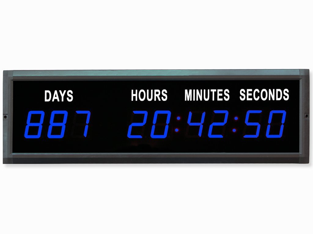 Amazon.com: EU 1.8'' LED Countdown Clock Days Hours Minutes and Seconds (Red): Home & Kitchen