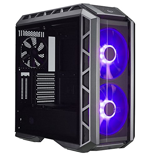 Vertical Tower Cpu (Cooler Master MasterCase H500P ATX Mid-Tower Case with Two 200mm RGB Fans In The Front and Tempered Glass Side Panel Cases (MCM-H500P-MGNN-S00))