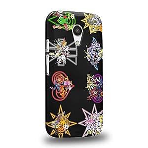 Case88 Premium Designs Digimon Adventure Augmon Greymon MetalGreymon WarGreymon 0954 Carcasa/Funda dura para el Motorola Moto G (2nd Gen.)