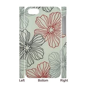 Pink Floral DIY 3D Cover Case for Iphone 4,4S,personalized phone case ygtg571743