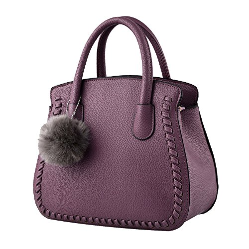 Pasaj Elegant Style Bag Elegant Women Handbag Shoulder Bag Tote Bags Imitation Leather Ladies Purple