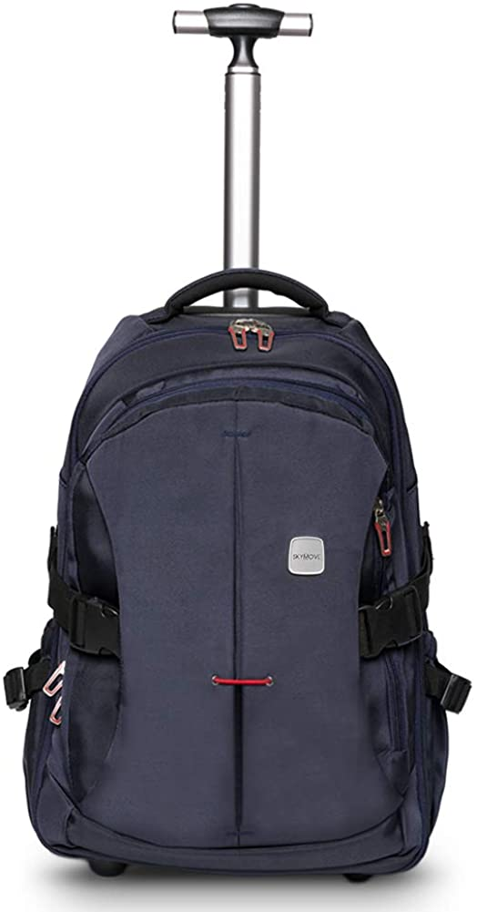 SKYMOVE 19 inches Wheeled Rolling Backpack for Adults and School Students Laptop Books Travel Backpack Bag