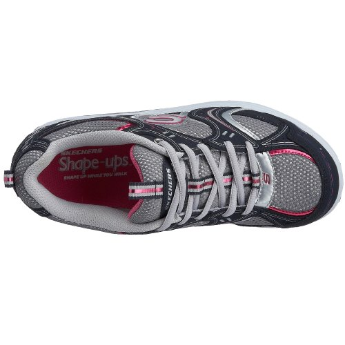 Skechers Womens Shape Ups -Action Packed Fitness Walking Shoe Navy/Silver oxPZTN