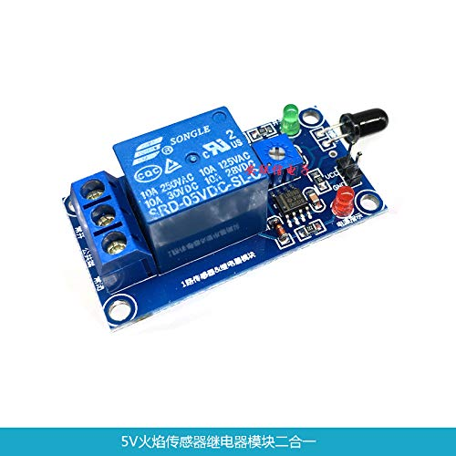 (Ngkc3C 5V Flame Sensor Module Relay Module in Flame fire Detection fire Alarm)