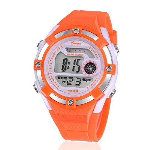 Digital Alarm Quartz Water Resistant girls Watches Chronograph by Sogife