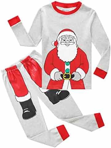 Family Feeling Christmas Bear Little Boys Girls Child Pajamas Sets 100% Cotton Toddler PJS